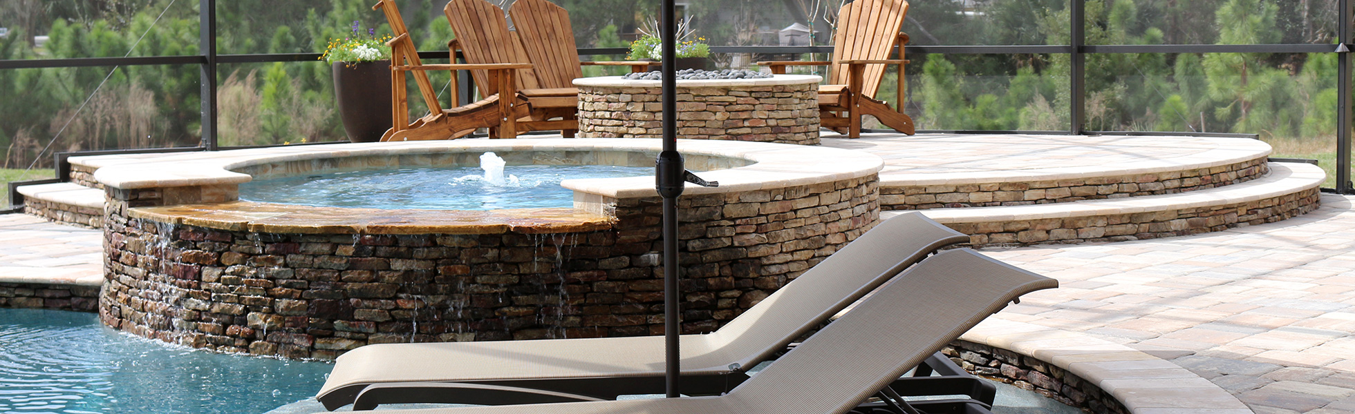 Custom Spa & Fire Pit by Paradise Pools by Design