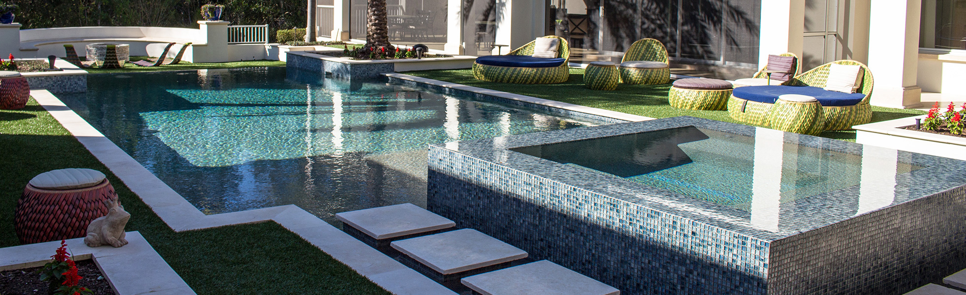 luxury pool spa oasis by paradise pools by design