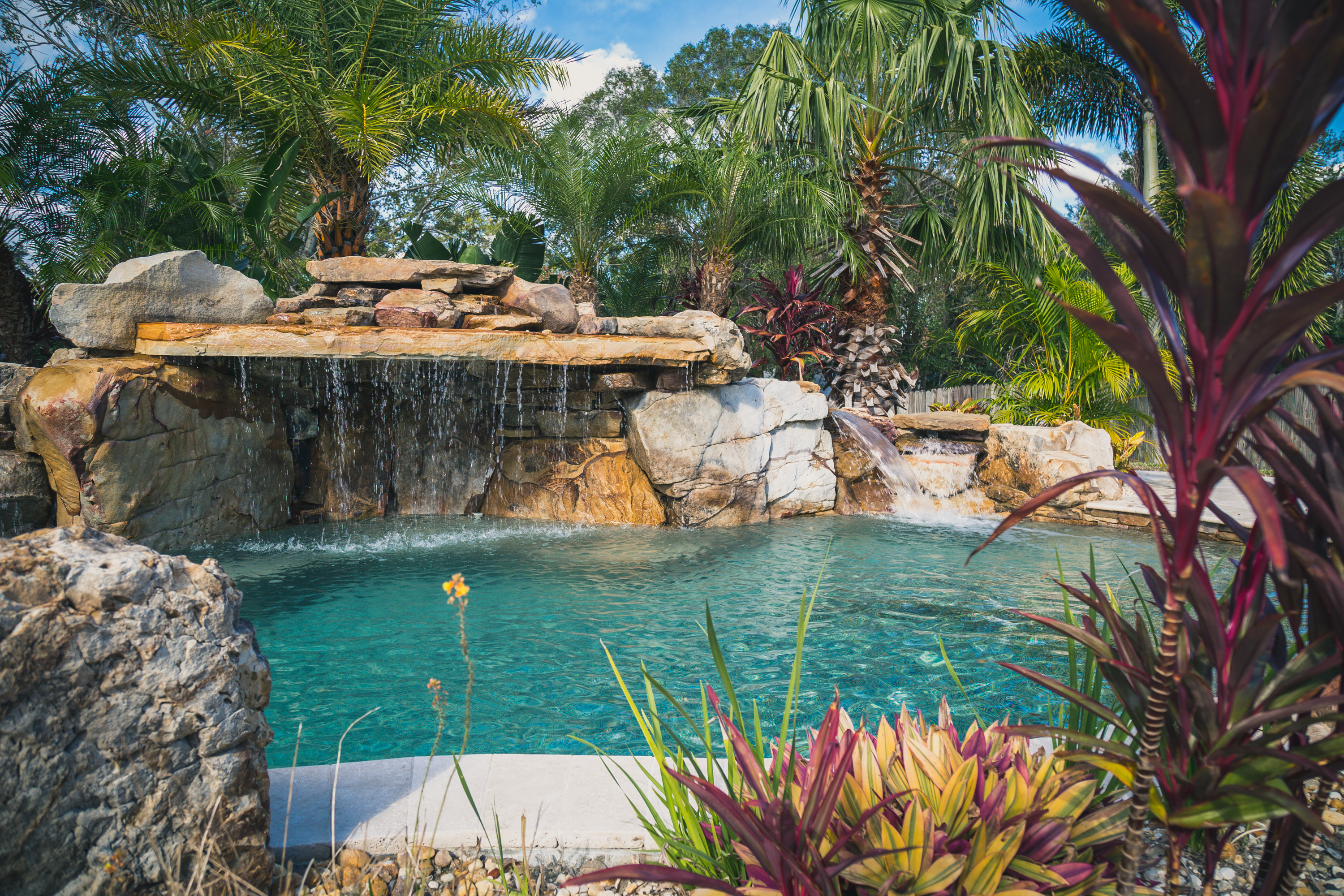 Project lagoon paradise pools by design for Pools by design