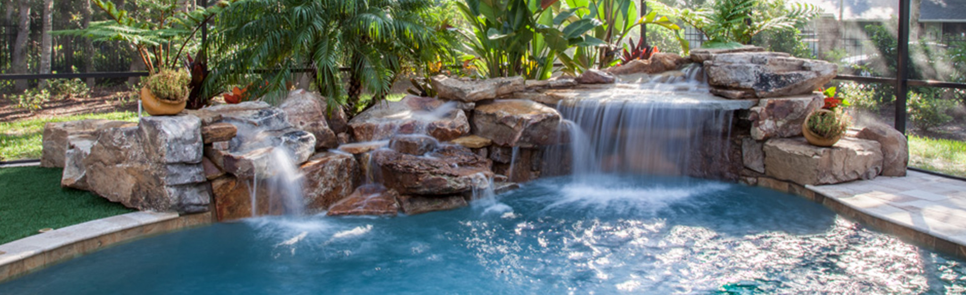 Custom Rockwork & Swimming Pool by Paradise Pools by Design