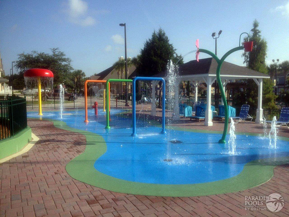 Splash pads gallery paradise pools by design for Pool design 2016