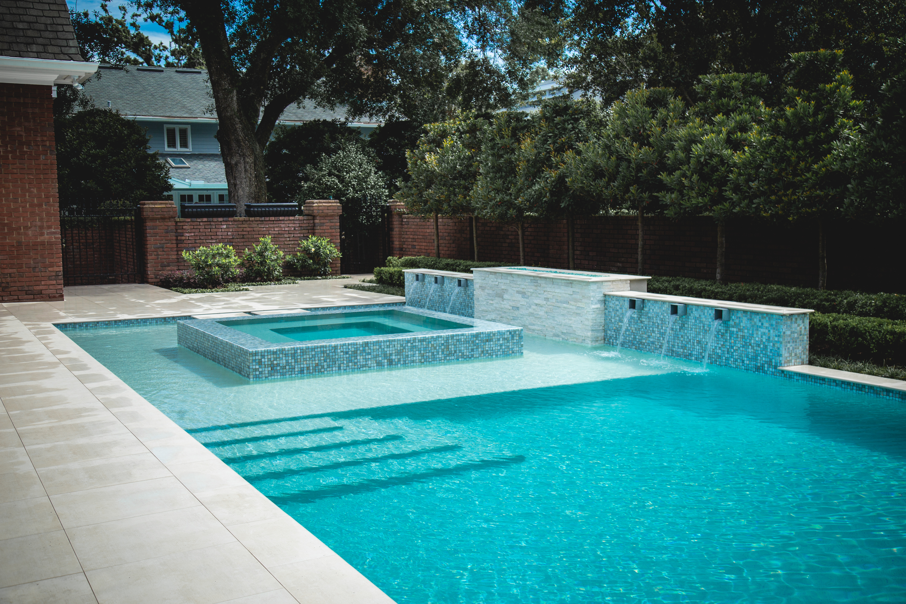 Project Contemporary Colonial Paradise Pools By Design